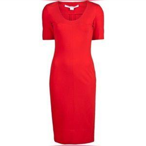 Diane Von Furstenberg Alegra Red Pencil Dress 4